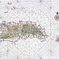 Antique Maps - Old Cartographic Maps - Antique Map Of Hispaniola - Caribbean Island by Studio Grafiikka