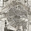 Antique Maps - Old Cartographic Maps - Antique Map Of Paris, France, 1643 by Studio Grafiikka