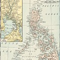 Antique Maps - Old Cartographic Maps - Antique Map Of Philippine Islands And Manila Bay, 1898 by Studio Grafiikka