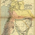 Antique Maps - Old Cartographic Maps - Antique Map Of Syria, 1884 by Studio Grafiikka