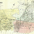 Antique Maps - Old Cartographic Maps - Antique Map Of The City Of Chester, England, 1870 by Studio Grafiikka