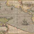 Antique Maps - Old Cartographic Maps - Antique Map Of The Pacific Ocean - Mar Del Zur, 1589 by Studio Grafiikka
