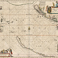 Antique Maps - Old Cartographic Maps - Antique Map Of The Strait Of Magellan, South America, 1650 by Studio Grafiikka