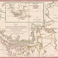 Antique Maps - Old Cartographic Maps - Antique Map Of The Strait Of Magellan, South America, 1787 by Studio Grafiikka