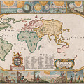 Antique Maps - Old Cartographic Maps - Antique Map Of The World by Studio Grafiikka