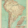 Antique Maps - Old Cartographic Maps - Antique Russian Map Of South America by Studio Grafiikka