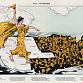 Antique Map Of The United States Of America - The Spirit Of Liberty - The Awakening, 1915 by Studio Grafiikka