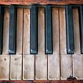 Antique Piano Keys by Rick Berk