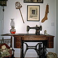 antique Singer sewing machine with treadle by Sally Weigand