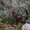 Antique Steel Wagon Wheel by Paul Freidlund