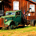 Antique Tow Truck by Barbara Bowen