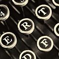 Antique Typewriter Keys Detail by Roger Passman