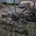 Antique Wagon Wheel by Paul Freidlund