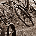 Antique Wagon Wheels II by Tom Mc Nemar