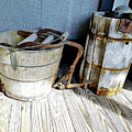 Antique Wooden Buckets by D Hackett