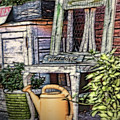 Antiques On The Front Porch by Mary Lou Chmura