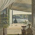 Antiquities By A Balcony Overlooking The Gulf Of Naples by Carl Wilhelm G?tzloff