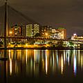 Anzac Bridge By Night by Sandy Eveleigh