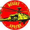 Apache On Desert by Piotr Dulski