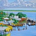 Apalachicola Waterfront by Neal Smith-Willow