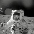 Apollo 12 Moonwalk by Stocktrek Images
