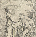 Apollo And The Cumaean Sibyl by Salvator Rosa