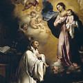 Apparition Of The Virgin To Saint Bernardo  by Bartolome Esteban Murillo