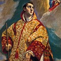 Apparition Of The Virgin To St Lawrence by El Greco
