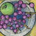 Apple And Grapes by Barbara Nye