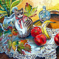 Apple Cat by Linda Shackelford