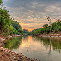 Apple Creek At Dusk by Larry Braun