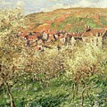 Apple Trees In Blossom by Claude Monet