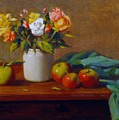 Apples And Flowers by David Olander