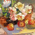 Apples And Peonies by Diane McClary