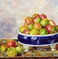 Apples In A Dish by  Pierre Auguste Renoir