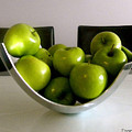 Apples In A Silver Vase by Fanny Diaz