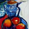 Apples In Glass Bowl by Doranne Alden