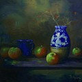 Apples With Vase by Tom Forgione