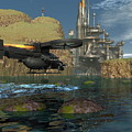 Approaching The Landing Pad by Michael Wimer