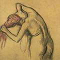 Apres Le Bain Femme S'essuyant by Edgar Degas