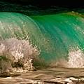 Aqua Green Wave by Debra Banks