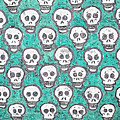 Aqua Skull Pattern by Modern Art