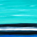 Aqua Sky - Bold Abstract Landscape Art by Sharon Cummings