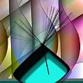 Aqua Vase by Iris Gelbart