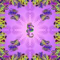 Aquarium Rising Lavender by Deborah Runham