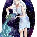 Aquarius Water Bearer by D Renee Wilson