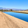 Aqueduct And The Tehachapi Mountains by Joe Lach