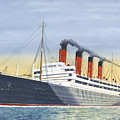 Aquitania-calm Sea And Prosperous Voyage by John Kinsley