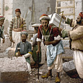 Arab Stonemasons, C1900 - To License For Professional Use Visit Granger.com by Granger