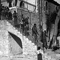 Arab Youths In Bethlehem 1938 by Munir Alawi